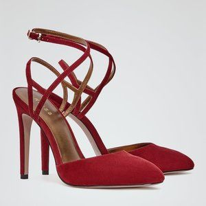 Reiss Women's Red Laverne Suede Point-toe Shoes